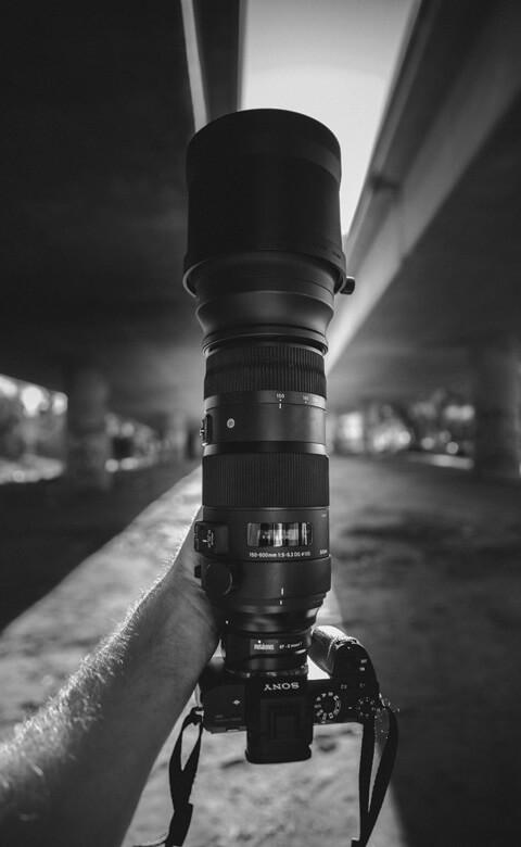 Sony body met Sigma 150-600mm lens